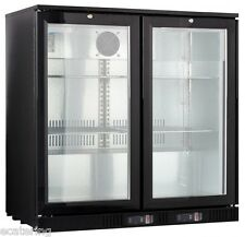Sale Gastroline Hinged Double Door Back Bar Cabinet Bottle Cooler. Free Delivery