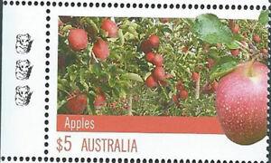 2012 $5 'Farming Australia Apples' 3 Koala Reprint: Left Selve Edge:Muh