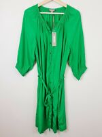 [ SUSSAN ] Womens Emerald Button Up Dress NEW + TAGS  | Size AU 14