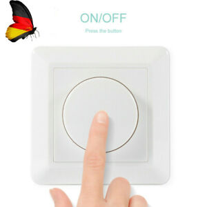 LED Dimmer Drehdimmer Schalter 100-240V 10-200W für Dimmbare Lampen Unterputz