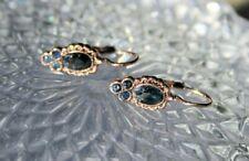 Latch Back Earrings Vermeil Sapphires Gift Chrismas New Earrings