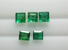 3.3mm 0.87cts Natural Loose Brazil Green Emerald Square Transparent Setting