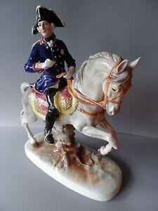 Grosse Original Porzellan Figur Friedrich der Große Katzhütte