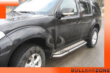 NISSAN PATHFINDER R51 2006-2012 MARCHE-PIEDS INOX PLAT / PROTECTIONS LATERALES