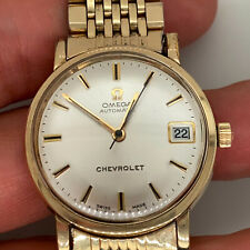 Vintage Omega Seamaster Automatic 563 10KGF Date Chevrolet Logo / Works Great