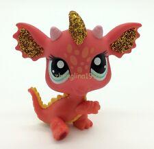 Orange Dragon Blue eyes LITTLEST PET SHOP LPS mini Action Figures #2484