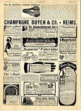 Sattelfabrik Otto Saupe Chemnitz Butter umsonst Strumpfhalter Spazierstock 1902