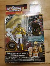 "POWER RANGERS Megaforce ""Ultra Metallic Force Yellow Ranger Action Figure LE Toy"