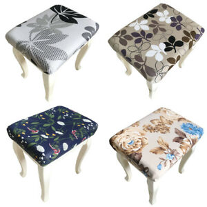 Stool Cover Stretch Makeup Chair Slipcover Seat Protector Floral Decor Covers