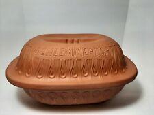 New listing Schlemmertopf 833 West Germany Clay Cooker Baker Roaster Glazed Bottom Nos