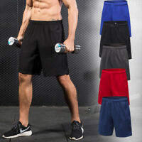 Mens Shorts Basketball Football Gym Training Beach Athletic Dri-fit with Pockets