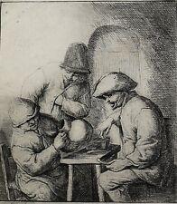 Adriaen Jansz Van Ostade Dutch 1610-1685 Etching The Empty Jug