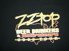 2003 Zz Top tour t-shirt Xl black Beer Drinkers Ted Nugent band rock Texas