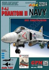 F-4J NAVY PHANTOM II big paper card model 56cm wingspan 1:33 scale