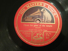 """EVAN WILLIAMS """"Open The Gates Of The Temple""""/""""Be Thou Faithful"""" 78rpm 12"""" NMINT"""