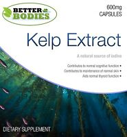 Sea Kelp (bladderwrack) 600mg HIGH Strength UK Manufactured Better Bodies