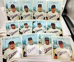 1967 Minnesota Twins Coca Cola Dexter Press Team Color Photo Set of 12