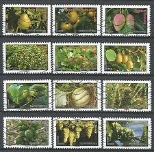 ˳˳ ҉ ˳˳FR49 France Nature, Fruits & Plants 2012  complete set 12 used
