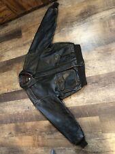 Vintage Avirex Type A-2 XL Made in USA DarkBrown Leather Flight Jacket 1978 USAF