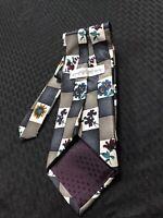 Givenchy Monsieur Men's Necktie 100% Silk Floral Colorful Tie
