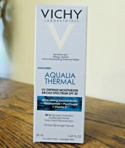 New! Vichy Aqualia Thermal UV Defense Moisturizer SPF 30 1.69oz (6983)