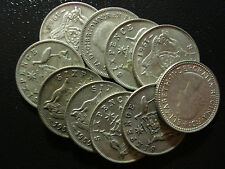 Australian Predecimal Sixpence Bulk Lot Silver Coins10pc