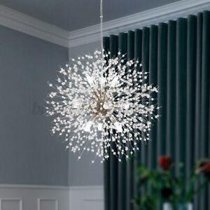 US 8 Heads Sputnik Chandelier Light Fireworks Crystal Ceiling Pendant LED Lamp