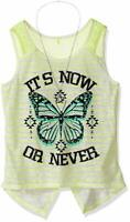 Beautees Girls' Screen Tank Top with Necklace Med