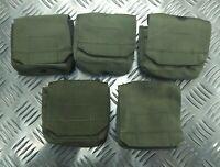 IDF Military Tactical Ammo Ammunition Pouch X 5 Web Codura - Olive Green RUSTY