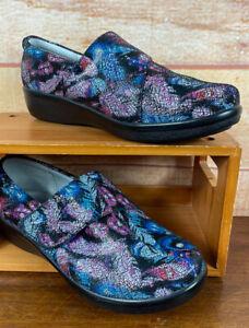 Alegria Lauryn Shoes Womens Sz EU 40 Wide Strap Comfort Feather Print