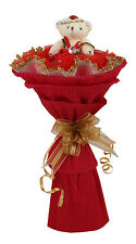 Single Bear Bouquet Gift Red
