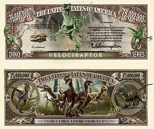 Our Velociraptor Dinosaur Dollar Bill (25 Bills)