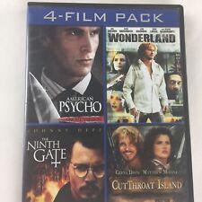Cutthroat Island American Psycho Wonderland The Ninth Gate Dvd 4 Film Pack
