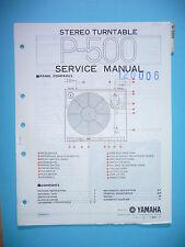 Service manual manual for Yamaha P-500,ORIGINAL
