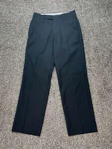 Callaway Mens Pants 30X30 Black Polyester Golf Flat Front Clasp Close Lightweigh