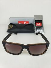 Ray-Ban Justin Polarized Sunglasses (Tortoise/Brown) Rb4165 865/T5 BRAND NEW!