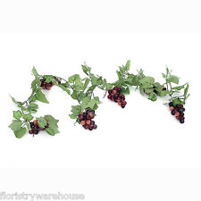 Artificial Red Grape Vine Garland 180cm/6ft Display Summer Fruit