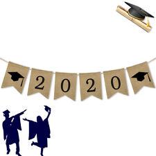 2020 Jute Burlap Graduation Party Banner Classroom Decoration Photo Backdrop