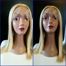 """20"""" Blonde full lace frontal wig   (Straight/613/closure/front/bleach/long)"""