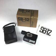 One Owner Nikon SB-12 Speedlight Flash w/Box, Manual, Storage Case, For Nikon F3