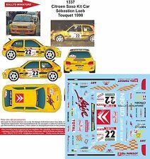 DÉCALS 1/24 réf 1337 Citroen Saxo Kit Car Sébastien Loeb Touquet 1998