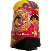 "Dora the Explorer Soccer Star Fleece Throw Blanket 50"" x 60"""