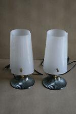 2 Lampes à poser  plastique année 50