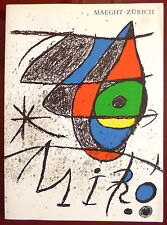 Miro 3 Lithographies originales 1972 Art Abstrait Abstraction Maeght Zurich art