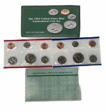 US MINT-P/&D UNCIRCULATED SETS~~60 UNC BEAUTIFUL COINS 6 YEAR RUN 1988-1993