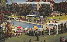 WEST END NEW JERSEY HOLLYWOOD HOTEL SWIMMING POOL POSTCARD c1940