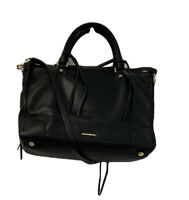 Rebecca Minkoff HF16EPBS32 Large Regan Satchel Bag Black NWOT