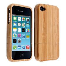 kwmobile Holz Schutz Hülle für Apple iPhone 4 4S Bambusholz Natur Hellbraun