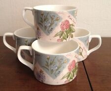 Royal Doulton Everyday Fine China 1996 Wildflowers Set Of 4 Cups Mugs Tea Coffee
