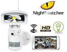 FLOOD LIGHT CAMERA Nightwatcher Robotic LED Light HD Camera & WiFi (2018 Model)